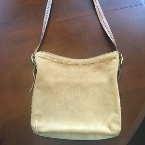 Coach Bags - Coach suede cross body purse